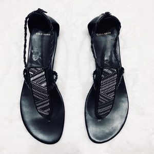 Cole Haan Black leather sandals